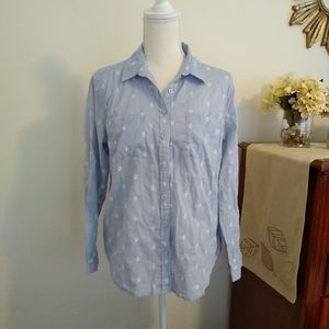 LOFT Size L blue softened shirt